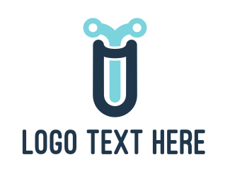 Test Tube - Tech Lab logo design