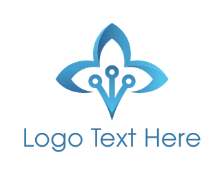 Lotus - Blue Lotus logo design