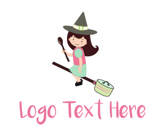 Cooking - The Kitchen Witch logo design