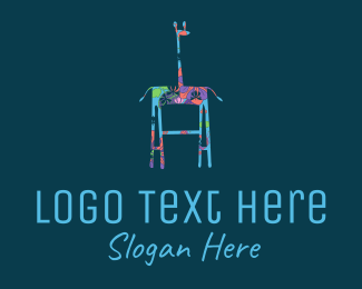Ladder - Floral Giraffe logo design