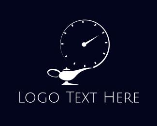 Clock - Genie Time logo design