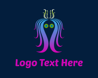 Octopus - Colorful Jellyfish logo design