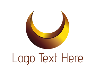 Fortune - Gold Moon logo design