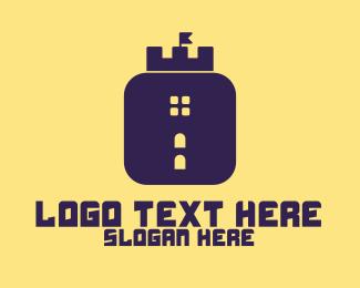Mobile App - Castle App  logo design