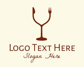 Wine Bar - Drink & Eat Restaurant logo design
