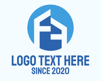 Subdivision - Letter F House Abstract  logo design