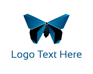Shape - 3D Butterfly logo design