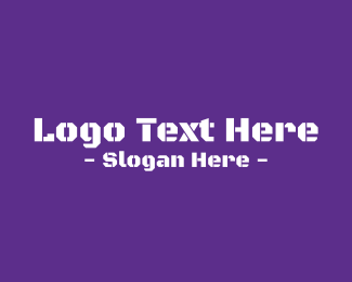 Tough - Purple Army Text logo design