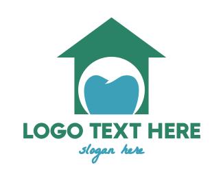 Braces - Green Tooth House logo design