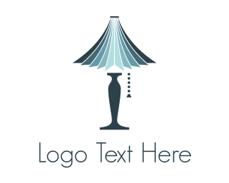 Home Decor - Blue Lamp logo design