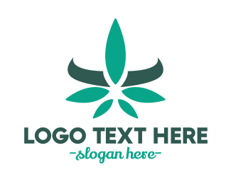 Herb - Modern Cannabis Leaf logo design