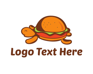 Lunch - Turtle Burger logo design