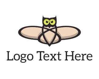 Lab - Atomic Owl logo design