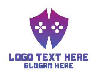 Esports - Controller Shield logo design