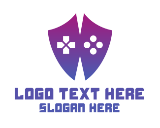 Gaming - Controller Shield logo design