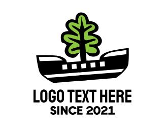 Sailboat - Eco Boat  logo design