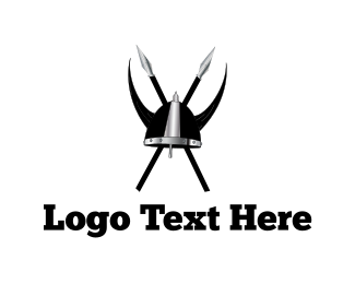 Spear - Viking Clan Helmet logo design