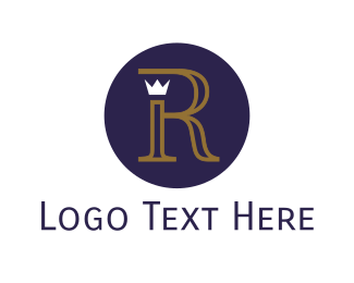 Letter R - King Letter R logo design
