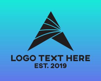 Hotel - Futuristic A Triangle logo design