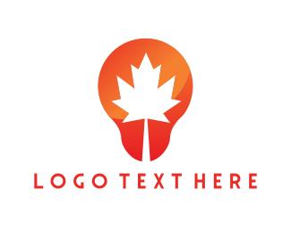 Maple - Canadian Bulb logo design