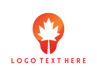 Maple - Canadian Bulb logo design