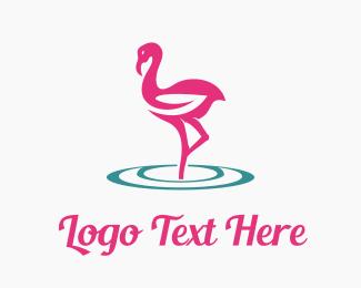 Hair Dresser - Flamingo Care logo design
