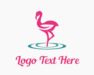 Hair Salon - Flamingo Care logo design