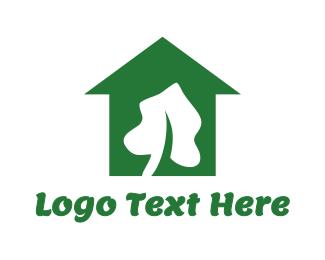 Greenhouse - White Leaf House logo design