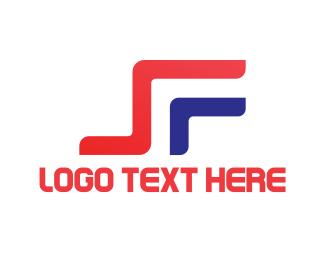 Sf - S & F logo design