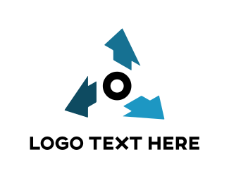 Control - Blue Arrows logo design