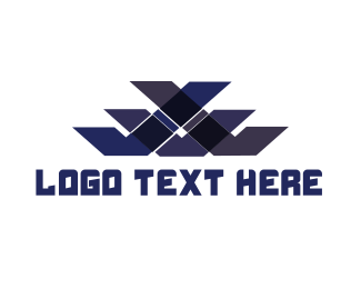 Blue - Blue Pattern logo design