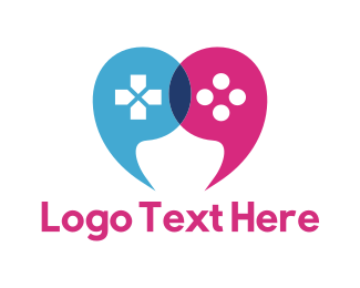 Joystick - Game Quotes logo design