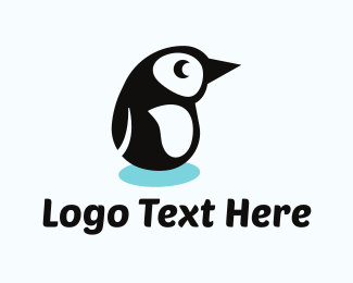 Antarctic - Penguin Cartoon logo design