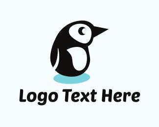 Baby - Penguin Cartoon logo design