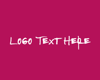 Bold - Strong & Pink Text logo design