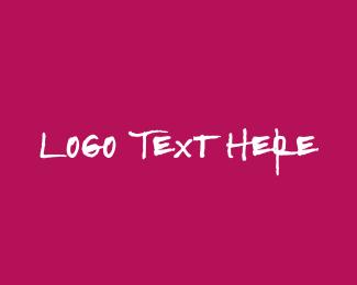 Massage - Strong & Pink Text logo design