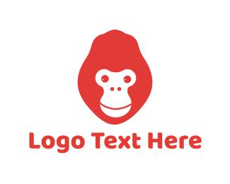 Gorilla - Red Gorilla logo design