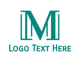 Professional - Modern Teal M logo design