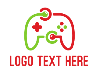 Joystick - Game Network logo design