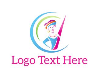 Gymnastics - Colorful Dancer logo design