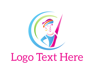Gymnastics - Colorful Dancer logo design