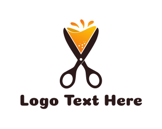 Stylist - Cocktail Scissors logo design