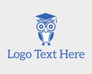 School - Wise Educated Owl logo design