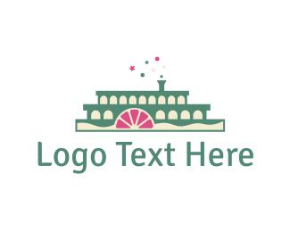 Ship - Cake Boat logo design