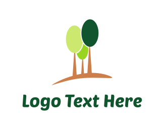 Land - Green Trees logo design