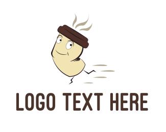 Latte - Fast Coffee logo design