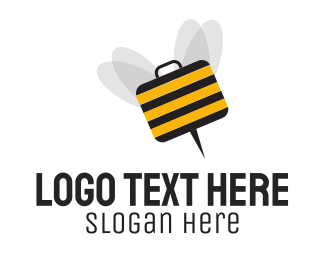 Briefcase - Business Bee logo design