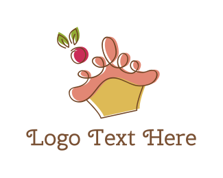 Muffin - Cherry Cupcake logo design