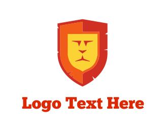 Badge - Lion Shield logo design