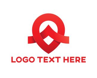Locater - Red Pin logo design